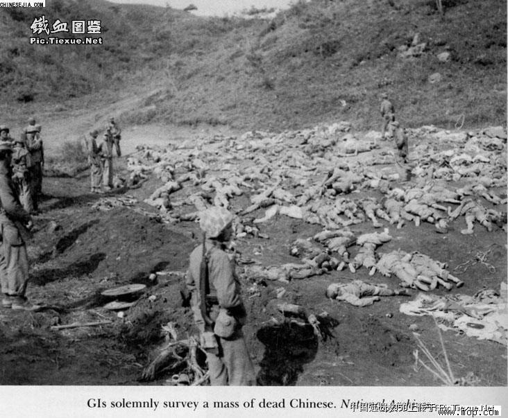朝鲜战争志愿军尸体